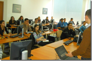 Svetlin Nakov teaching students at TelerikAcademy