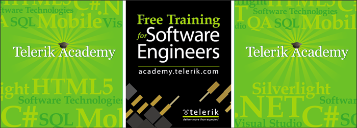 Telerik Academy for software engineers - banner