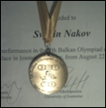 Nakov - bronze medal for olympiad