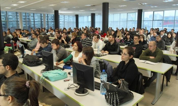 Учебната зала на Академията на Телерик за софтуерни инженери - семинар за търсене на работа в ИТ индустрията