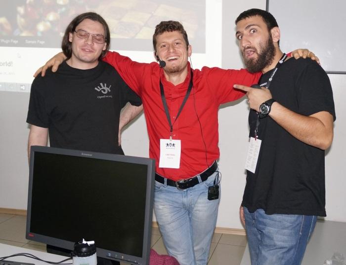 Svetlin-Nakov-Mario-Peshev-Vasil-Kolev-at-WordCamp-2013-Sofia-Oct-2013