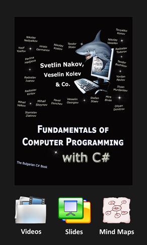 Free book on C# and computer programming + video lessons + presentations slides + mind maps - by Nakov & Co.