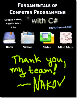 Thank you my team by Nakov (the # book team lead)