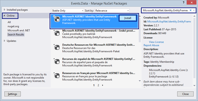 Entity framework code generation strategy disabled dating