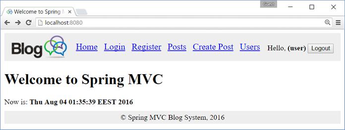 spring html5 mvc
